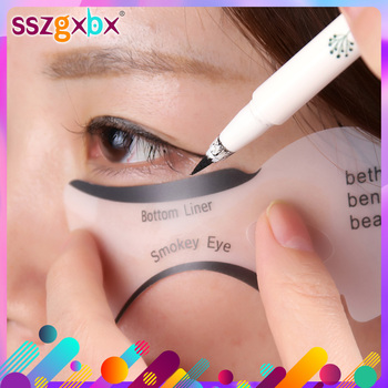 10PCS Eyeliner Stencil Fish Tail Double Wing Eyeliner Models Molding Template Tools Eyebrows Stencil DIY Makeup Tool