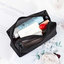 Toiletry Beauty Wash Bag Visible Mesh Women Cosmetic Bag Travel Function Makeup Case Zipper Make Up Organizer Storage Pouch toiletry beauty wash bag visible mesh women cosmetic bag travel function makeup case zipper make up organizer storage pouch