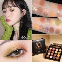 Hojo Glitter Eyeshadow Pallete Shimmer Matte Nude Shadow Makeup Kit Palette Metallic Smoky Eyeshadow Powder Pigmented Waterproof недорого