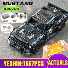 1:12 APP High-Tech Toys Compatible With MOC-22970 Mustang Hoonicorn Motor Car Model Building Blocks Bricks Kids Christmas Gift