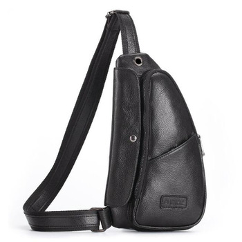 Men Real Cowhide Sling Chest Bags Shoulder Rucksack Cross Body Bag Vintage High Quality Genuine Leather Male Chest Back pack new men genuine leather first layer cowhide high capacity travel cross body shoulder messenger sling chest day pack bag