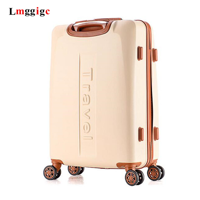 Women Travel Cabin Trolley Suitcase Rolling Luggage Bag Spinner Case