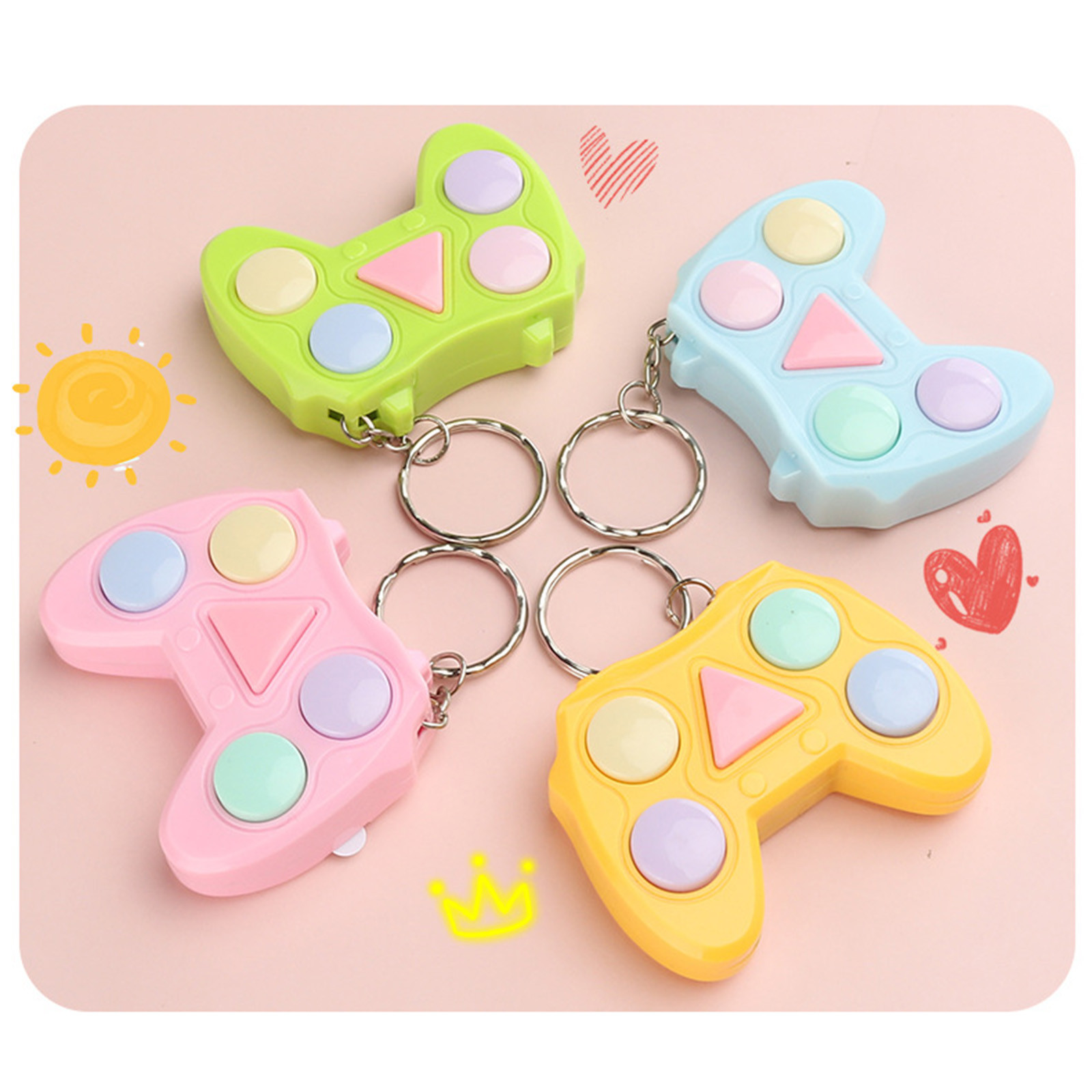 Stress Relief Fidget-Toy-Pack Memory Color-Game-Machine Keychain Gadget Mini-Handle Training img1