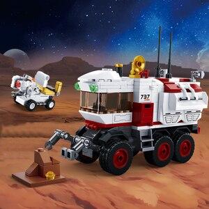 Image 4 - 宇宙ステーションロケット月面着陸宇宙船スペースシャトル船フィギュアモデルビルディングブロックレンガのおもちゃ子供のギフトのため