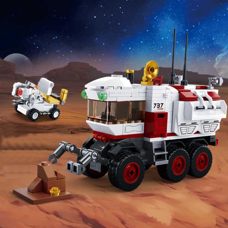 Stazione spaziale Rocket Lunar Lander Astronave Space Shuttle La Nave Figure Modello di Blocchi di Costruzione di Mattoni Giocattolo per il Regalo Dei Bambini