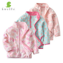 SVELTE Spring Fall Winter for Children Kids Girls Cute Soft Polar Fleece Jacket Coat Outerwear Cardigan Clothes Sweatshirt(China)