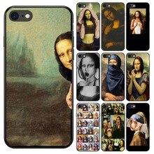 Para iphone caso x Arte Mona lisa de silicona suave caso capa Do Telefone Para Apple iphone 7 8 Mais Xs r 11 12Pro mini Max capa