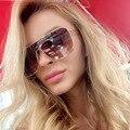 Alta qualidade oversized quadrado feminino gradiente metal 2020 retro vintage óculos de sol steampunk