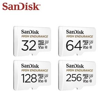 SanDisk Original Memory Card 100MB/s 32GB 64GB Class 10 High Endurance Video Monitoring V30 micro SD Card 128GB TF Card Microsd