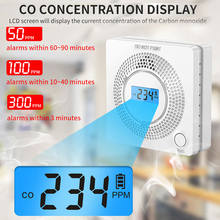 Carbon Monoxide Detector CO Alarm Sensor 85db CO Gas Detector With LCD Screen Electrochemicalsensor