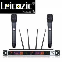 Leicozic 615-820Mhz Professional uhf wireless microfono Stage microfone digital mikrofon wireless mic uhf wireless microphone