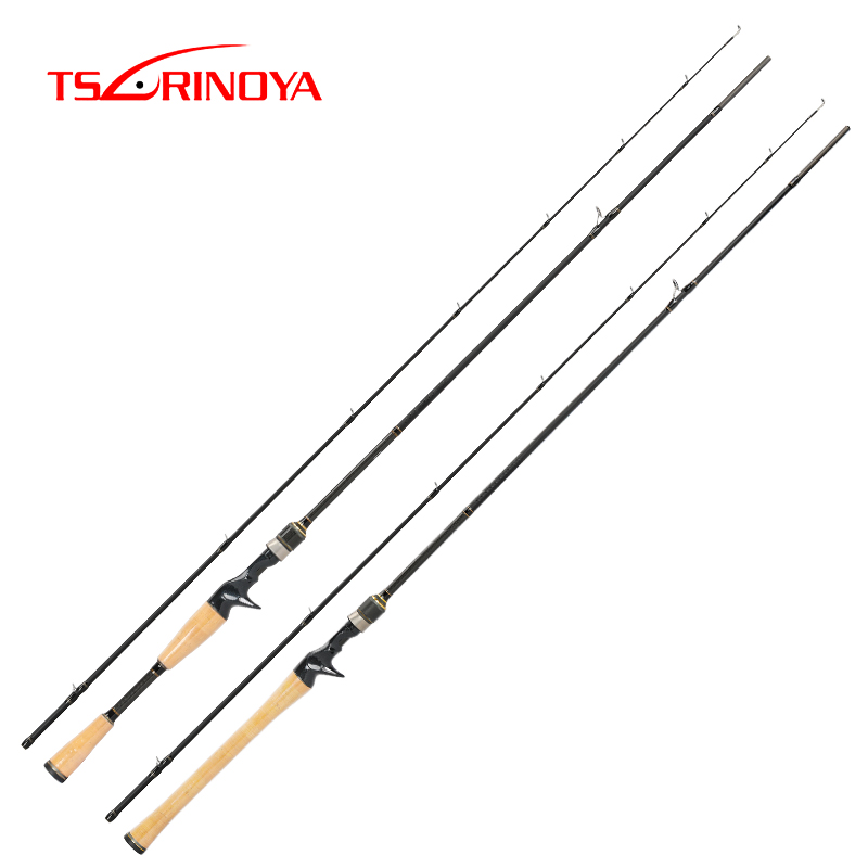 TSURINOYA Casting Fishing Rod PROFLEX C652ML C702M 1.98m/2.1m BASS FUJI Guide Rings Accessories Carbon 2Section Rod Fast Action