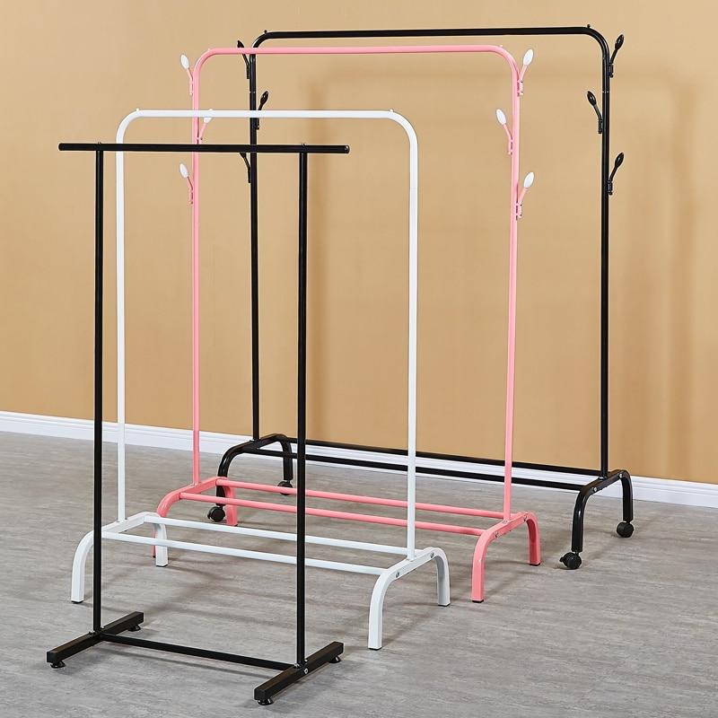 Coat Hanger On The Floor; Hanger On The Floor; Hanger On The Floor; Hanger On The Air; Single Pole; Hanger; Simple Bedroom