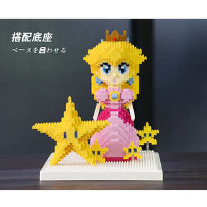 Image 4 - Weagle Super Mario Peach Princess Bowser Goundhog Flying Squirrel Mario 3D Model Diamond Mini Building Small Blocks Toy no Box