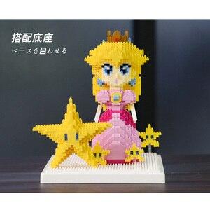Image 4 - Weagleスーパーマリオピーチ姫クッパgoundhogムササビマリオ3Dモデルダイヤモンドミニビルディング小さなブロック玩具なしボックス