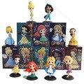Фигурки героев мультфильма «Холодное сердце», Эльза, Анна, Мулан, Золушка, Алиса, ПВХ экшн-фигурки, игрушки для детей, подарок A45