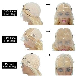 Image 5 - JRX שיער כתום מראש בצבע תחרה מול פאה 100% שיער טבעי בוב פאה בצבע מראש קטף ברזילאי 13*4 תחרה מול פאות
