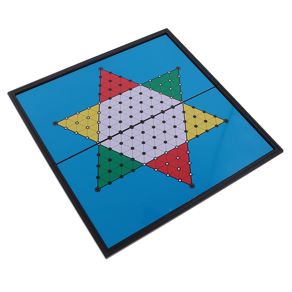 Chinese Checkers Travel Damier Hexagon Toy Gift Children Adult - 25x25x2.5cm