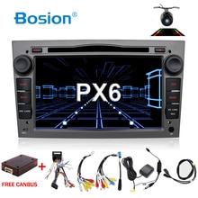 Autoradio PX6, lecteur DVD, avec Navigation, WIFI, BT, pour Vauxhall Opel Astra H G Vectra Antara Zafira Corsa, multimédia, Android, 4 go + 64 go