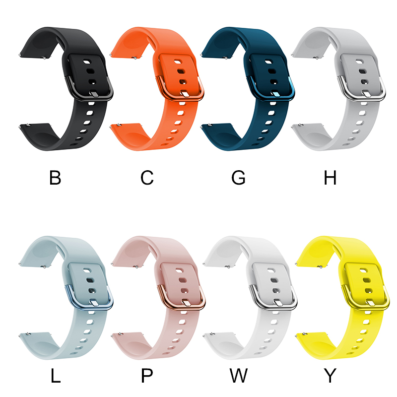 20mm Watch strap for Samsung Galaxy Watch Active 42mm Sport Silicone Smart Wristbands <font><b>Fit</b></font> for Huami <font><b>Amazfit</b></font> Bip Youth Watchband image