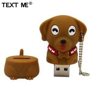 Image 4 - Napisz do mnie 64GB cartoon Mini pies pamięć usb 2.0 4GB 8GB 16GB 32GB pendrive na prezent U dysku