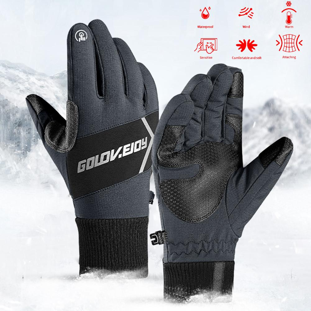 Motorcycle Gloves Winter Riding Waterproof Windproof Mittens Warm Night Reflective Touch Screen Gloves Guantes Moto Invierno