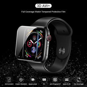 Image 2 - Dla serii iWatch 4 3 2 1 ochraniacz ekranu ze szkła Nillkin 3D AW + pełna pokrywa szkło hartowane do zegarka Apple Watch 38/40/42/44 MM