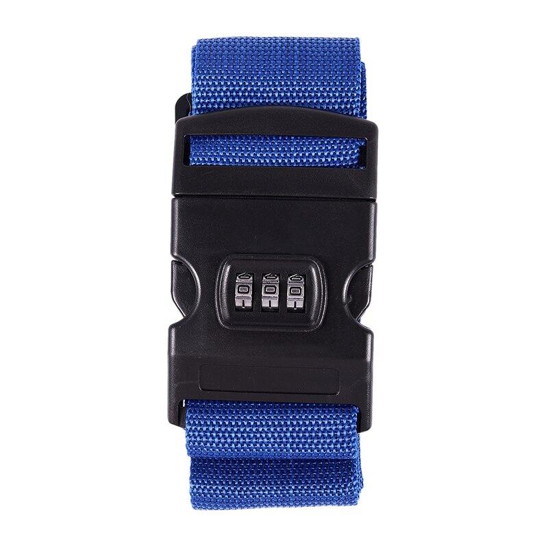 Safety Belt Belt Lock Combination Travel Luggage Suitcase Band Color:Blue