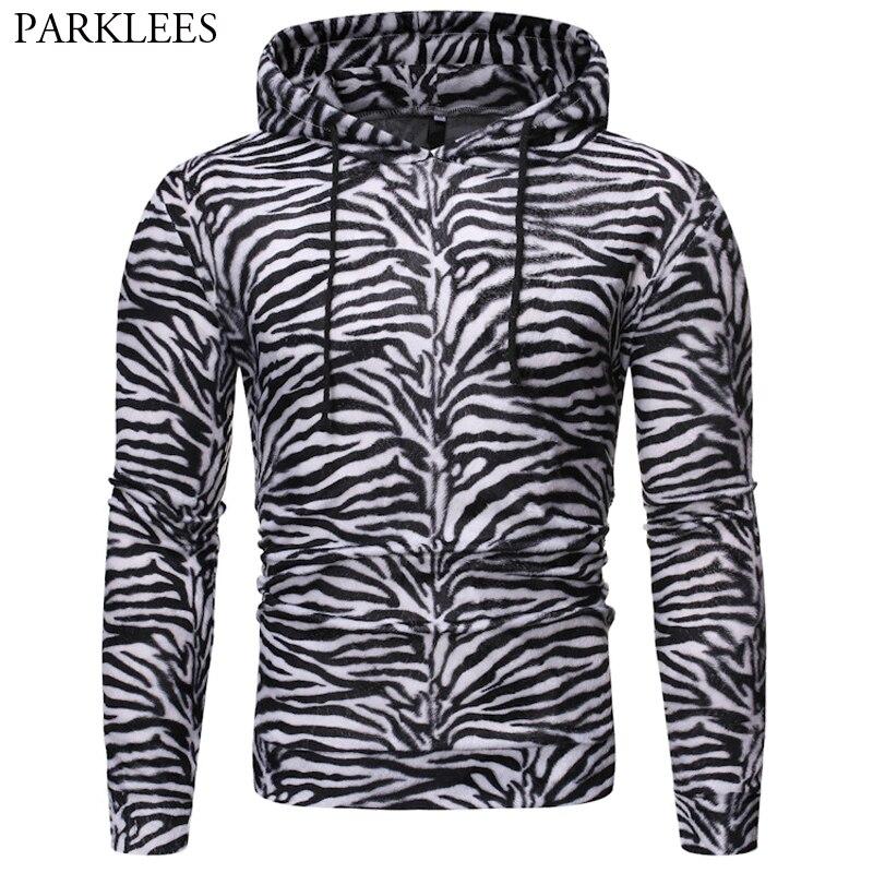 Men Zebra Hoodie Casual Unisex Mens Hoodies Hip Hop Harajuku Hoodie Men Pullover Streetwear Sweatshirt Man Hoody Sudadera Hombre