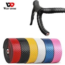WEST BIKING Bike Handlebar Tape EVA PU Road Bicycle Handlebar Tape Anti-slip Shock Absorption Cycling Wrap End Plug Accessories