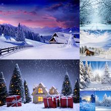 WHISM 30 Styles Available Woods Snow Scene Photography Background Cloth Ink Painting Canvas 3*5 Feet Home Decoration