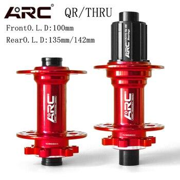 цена на ARC REAR BICYCLE HUBS MTB HUB Bearing Mountain hub DISC brake 32H 8 9 10 11 SPEED QR SKEWER 10-135MM THRU 12-142MM BIEK HUB