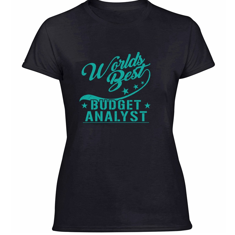 Newest Customized Budget Analyst Financial Advisor Household Cash Tshirt For Women 100% Cotton Cool Boy Girl Tshirts Gray Female image