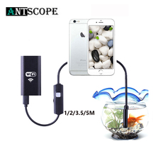 Antscope Wifi эндоскоп камера Android 720P Iphone эндоскоп камера водонепроницаемая камера Endoscopio Android iOS Boroscope камера 19