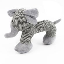 Dog Squeak Sound Toy Interactive Plush Dog Toys Pet Chew Toys For Small Large Dogs Play Funny Training Gray Elephant(China)