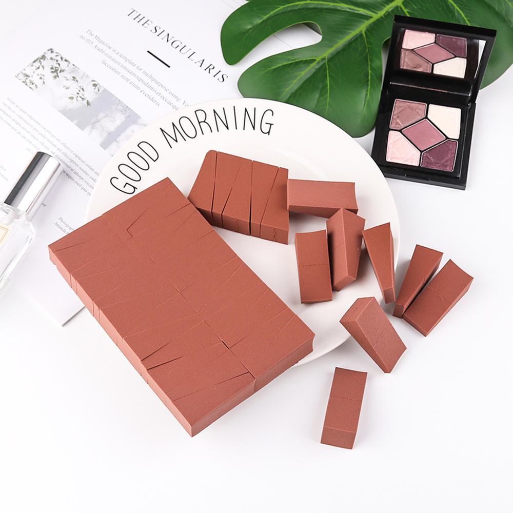 24 Sliced Powder Puff Triangle Sponge Puff Small Pieces Dry And Wet Makeup Powder Puff Reusable Makeup Powder Puff