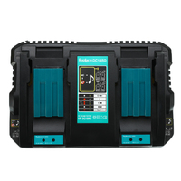 Enchufe UE para Makita cargador de batería doble UE dos puertos USB 7,2 V 14,4 V 18V DC18RD DC18RC BL1860 BL1840 BL1830 4A herramienta eléctrica