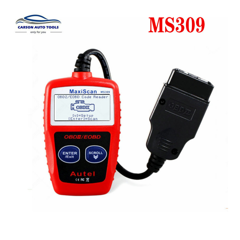 Autel MaxiScan MS309 OBDII Code Reader Scanner Obd2 Car Diagnostic Tool Original And Professional MaxiScan MS309 Scanner