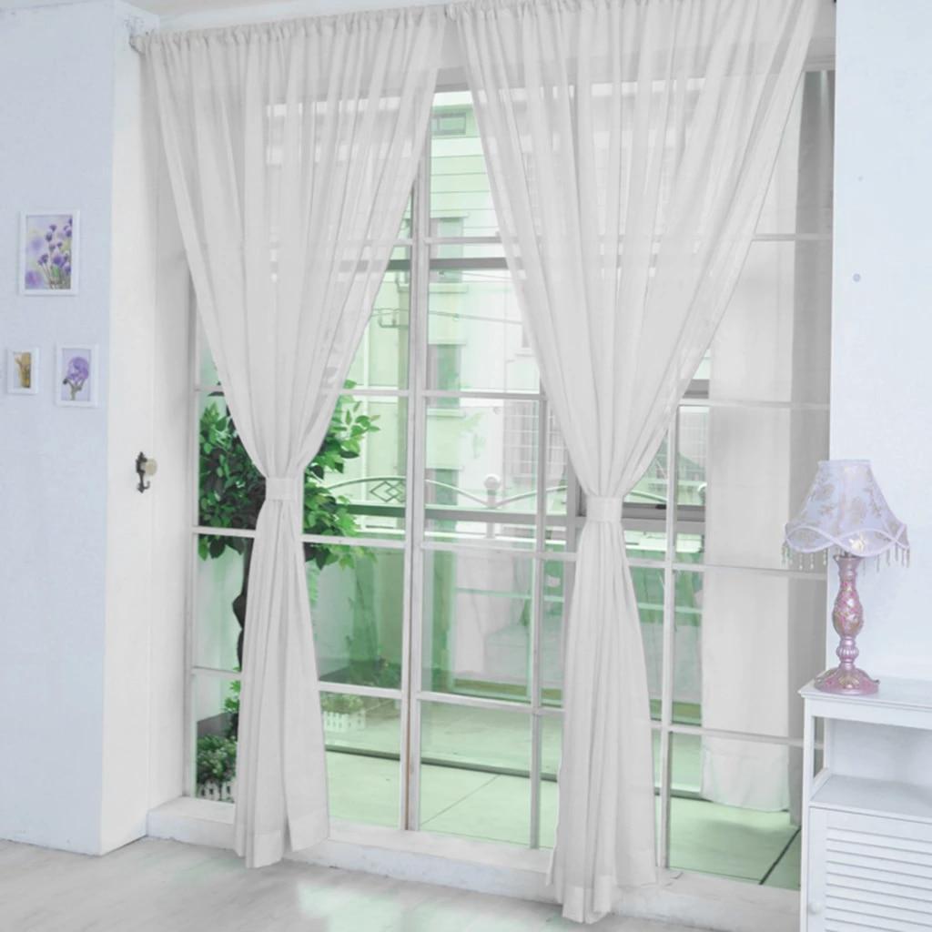 Elegant Window Sheer Voile Curtain 2