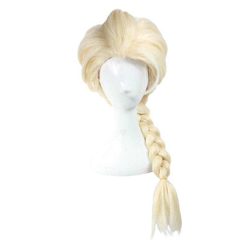 Filmes neve rainha elsa loira cabelo tecelagem trança cosplay perucas para halloween carnaval purim festa de máscaras