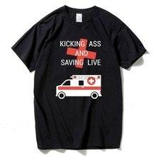 T-Shirt Uomo Ambulanza Uomo Manica Corta In Cotone Sciolto Nuovo Divertente