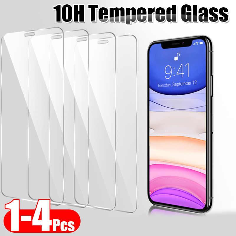 1 4 шт 10H защитное закаленное стекло для iphone 11 Pro X XR XS Max Защитная пленка экрана 8 7 6 6s