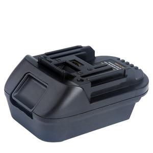 Image 1 - Адаптер для преобразователя литий ионной батареи DM18M 18 в, преобразователь Milwaukee 18 в или Dewalt 20 в, литий ионная батарея