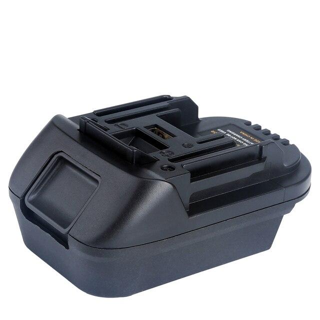 DM18M Battery Converter Adapter for 18V Lithium ion Power Tools Convert Milwaukee 18V or Dewalt 20V Lithium ion Battery