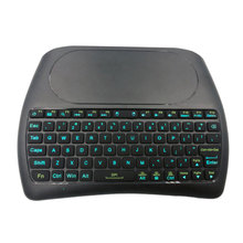 Original Backlight D8 Pro 2.4GHz Wireless Mini Keyboard Air Mouse Touchpad Controller English Russian for Android TV BOX 2 4g wireless fly air mouse mini keyboard t6 plus english russian 7 colors backlight touchpad remote control for android tv box