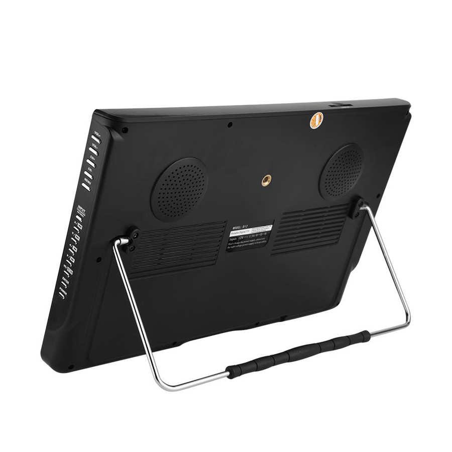 LEADSTAR 12 inch HD Portable TV ISDB-T USB Digital Television Mini Car TV Audio Video Player Support MP4 Monitor EU Plug 13 -