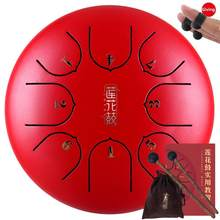6 Inch 8 Tone Tongue Drum Percussion Instruments Mini 8-Tone Hand Pan Hangpan Tongue Drum with Drum Mallets Carry Bag(China)