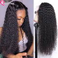 30 Inch Curly Lace Front Human Hair Wig Curly Human Hair Wigs Brazilian Curly Lace Frontal Wig Pre Plucked 4x4 Lace Closure Wig