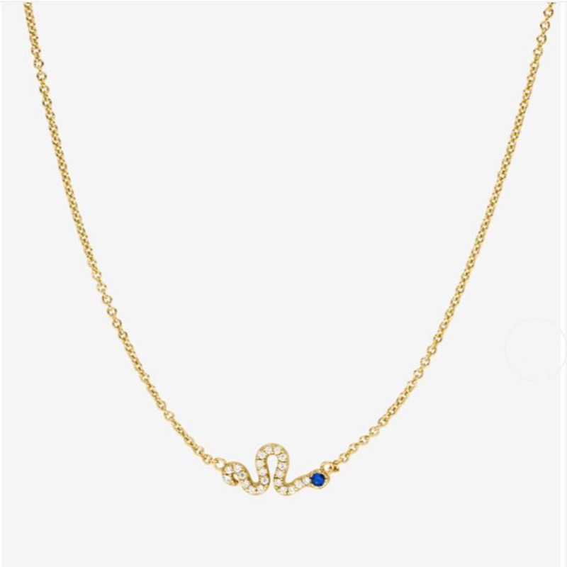 DESERT BLUES NECKLACE 18K GOLD PLATED