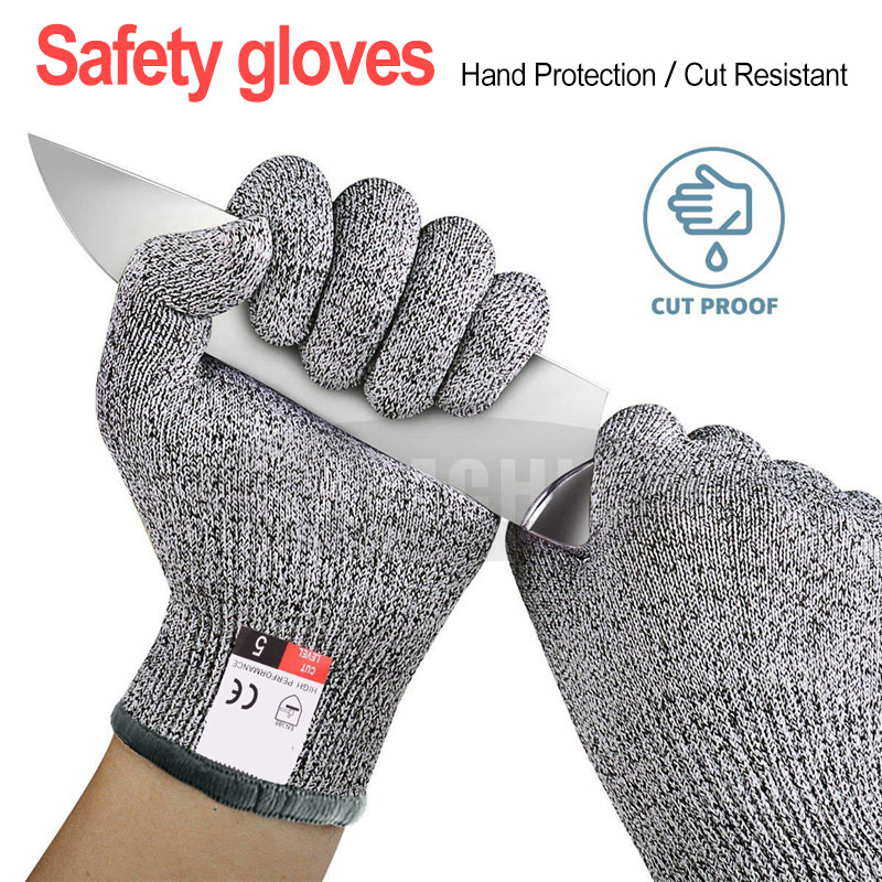 Anti-Cut-Gloves Cutting 5-Protection Kitchen For Fish-Meat Grade-Level High-Strength